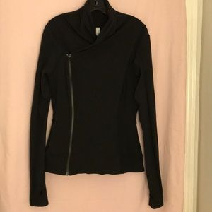 Lululemon Black Yoga Jacket Double Zip Size 8